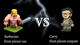 Carry minati Vs barbarion animated fight clash of clans d@2