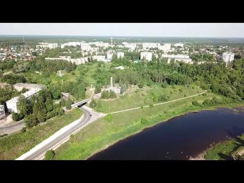 Ржев с коптера (центр города)