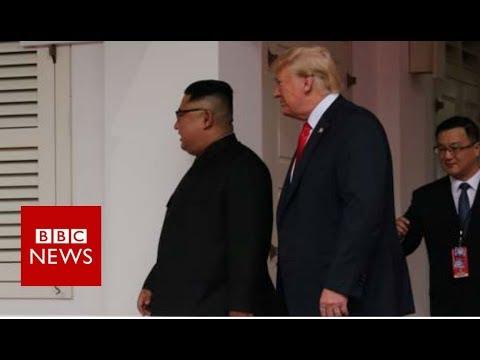 Trump Kim summit: US and North Korean leaders to hold historic talks - BBC News