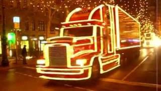 Coca-Cola Christmas Trucks. Новогодние красочные машины грузовики!