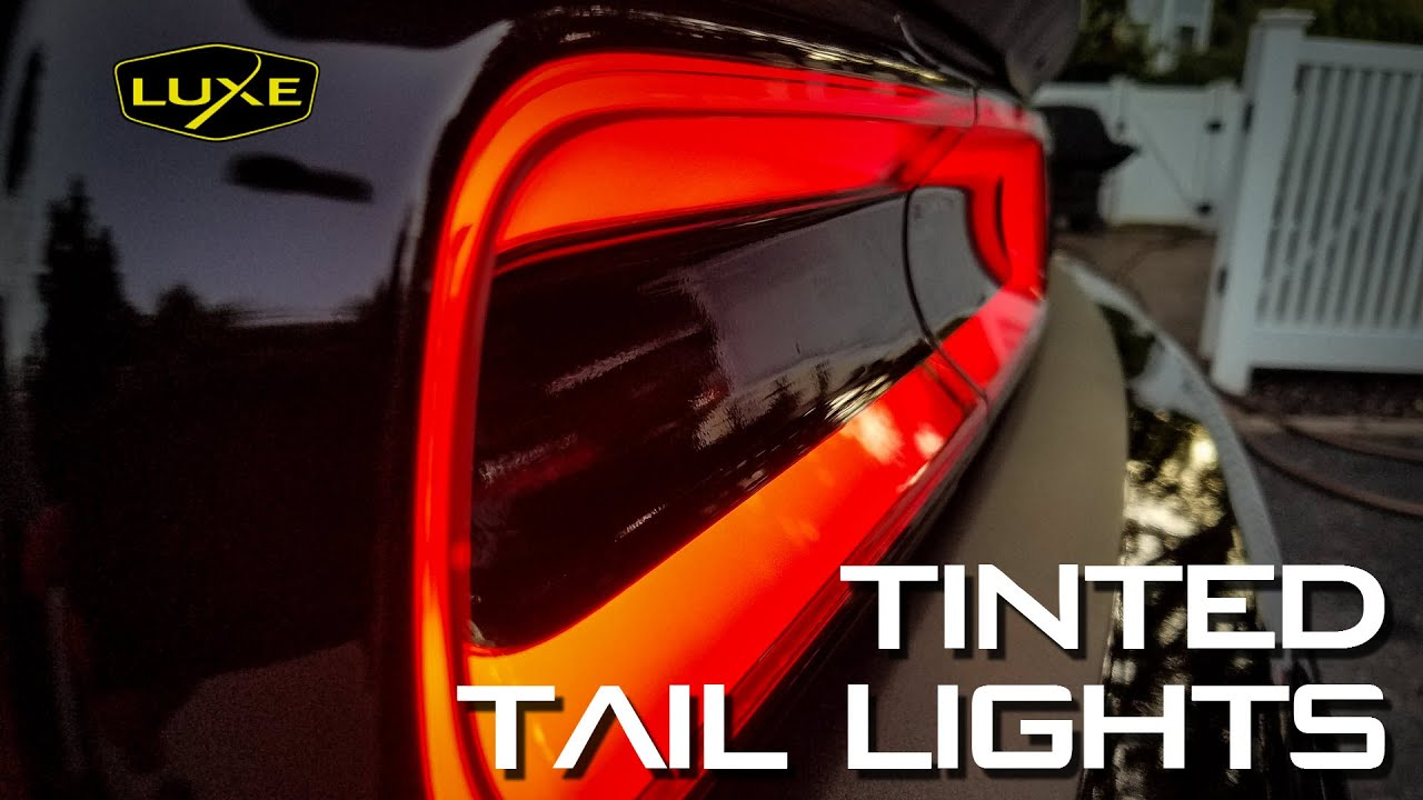 Tinting 2015 2016 Challenger Tail Lights And Rear