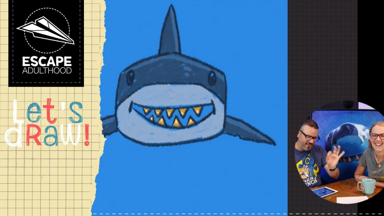 Let S Draw A Shark With Gold Teeth Youtube