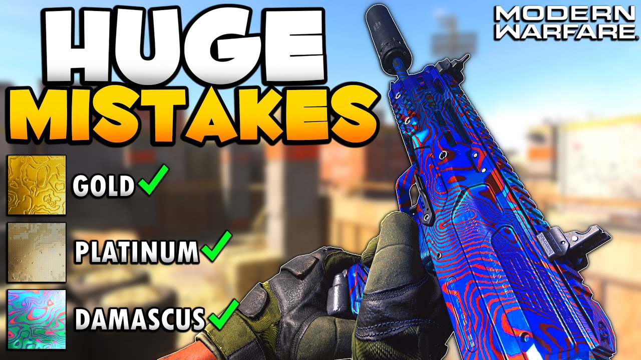 7 Huge Mistakes You Are Making While Unlocking Damascus Camo Modern Warfare Youtube