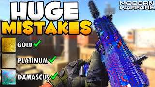 7 Huge Mistakes You are Making While Unlocking Damascus Camo | Modern Warfare