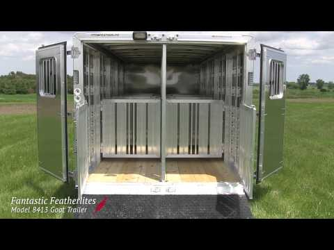 Fantastic Featherlites - Model 8413 Custom Goat Trailer
