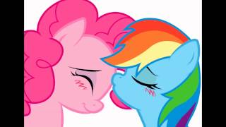 pinkie pie and rainbow dash heaven hen you kiss me