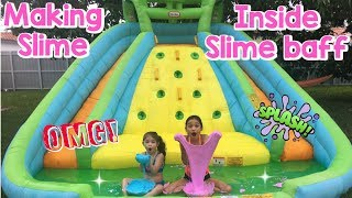 Making SLIME In A BOUNCE HOUSE Challenge!