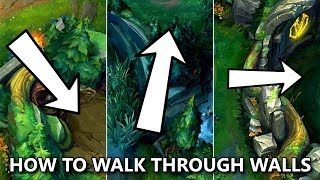 How to WALK THROUGH WALLS in LoL? Pathing Bug Guide!