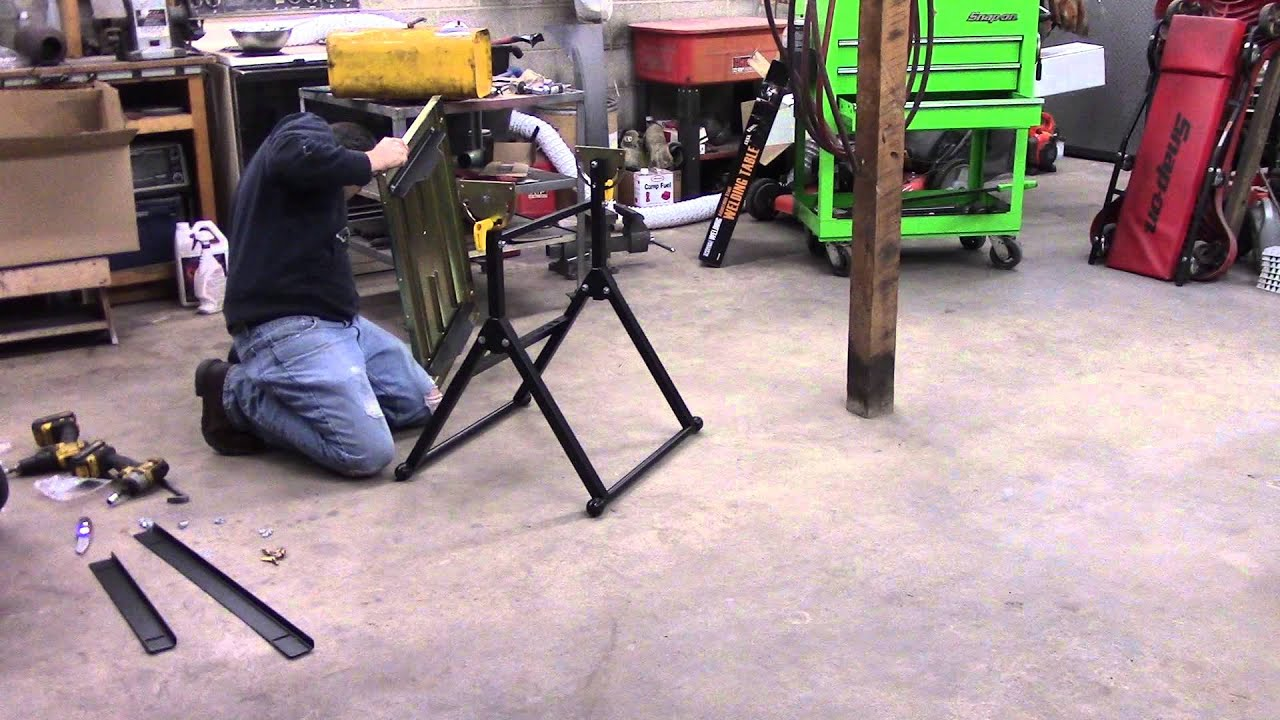 Harbor freight welding table - assembly/quick review