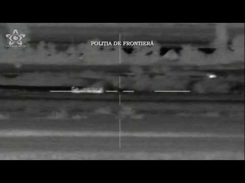 Migranti patrund ilegal in Romania - camera termoviziune