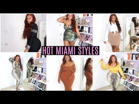 Do You See This Dress?! Hot Miami Styles Try On Haul- Jeans, Dress, Plus-  Size, Curvy