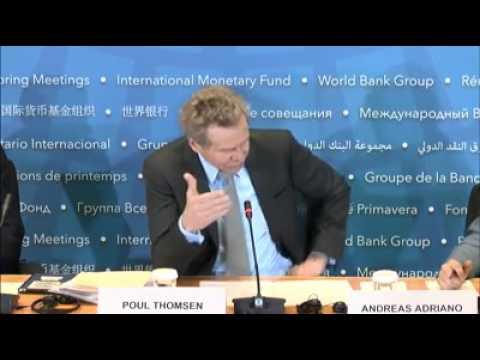 IMF press briefing by European Dept head Poul Thomsen