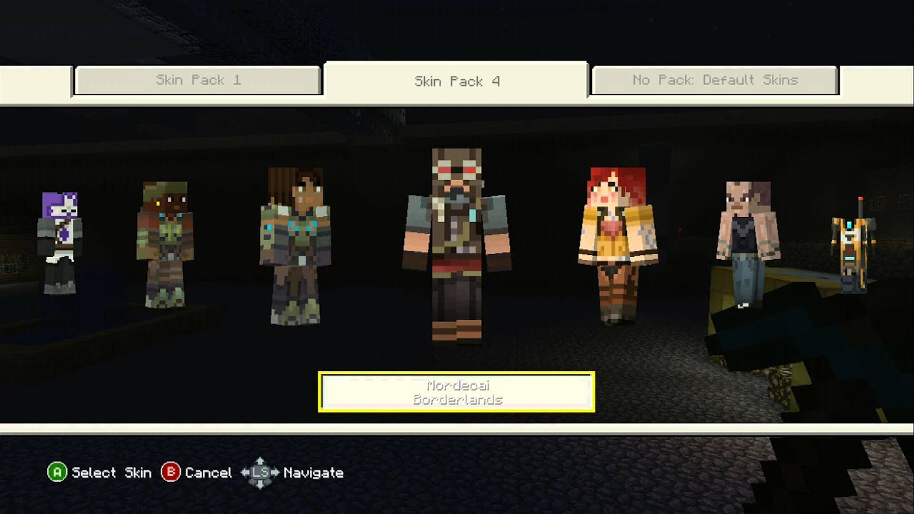 Minecraft Xbox 360 Edition Skin Pack 4 Borderlands Assassin S