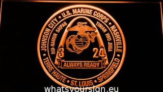 US Marine Corps 3rd Battalion 24th Marines LED Neon Sign