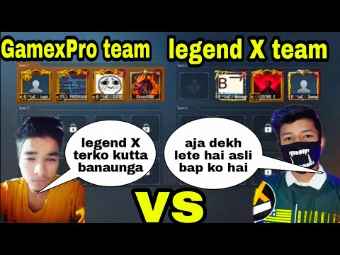 GamexPro vs legend X sniping only tdm challenge who is best player  