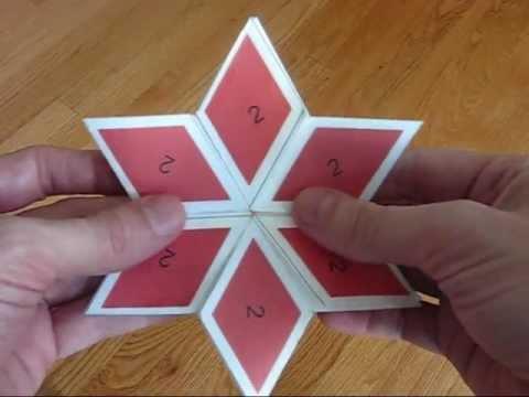 6 sided rhombus hexaflexagon - YouTube - hexaflexagon template