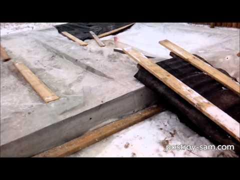 Как закрыть фундамент на зиму
