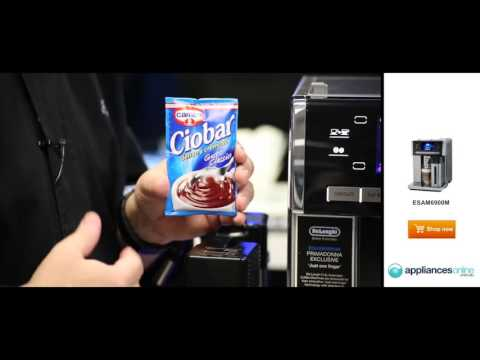 Delonghi's top of the range Prima Donna coffee machine also makes hot chocolate   Appliances Online