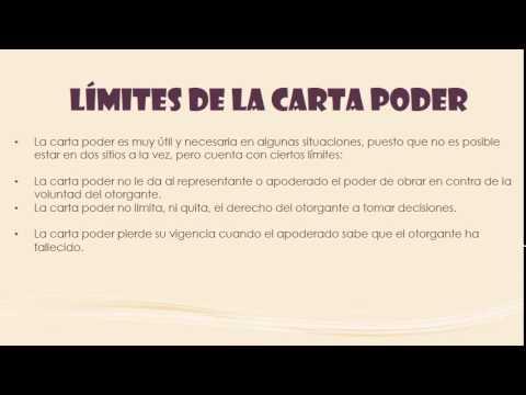 CARTA PODER - YouTube