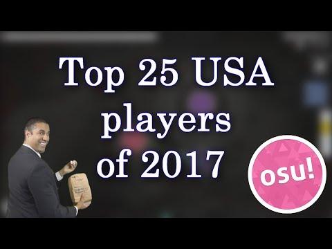 Top USA players of 2017 (osu!)