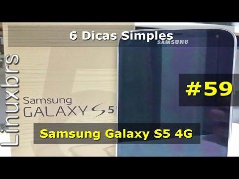 Samsung Galaxy S5 SM-G900M - 6 Dicas simples - PT-BR - Brasil