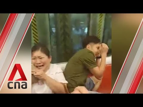 Violence breaks out at Hong Kong's Yuen Long MTR station