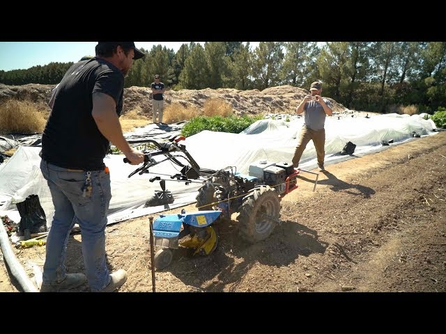 Shaping Beds with a Rotary Plow