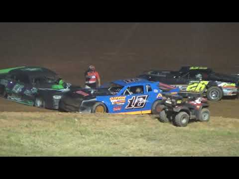 07/20/19 Rebel Yell Stock V8 HEAT Race- driver got out of car on track, intentional hit