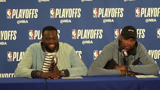 Kevin Durant & Draymond Green Postgame Interview / GS Warriors vs Spurs Game 5