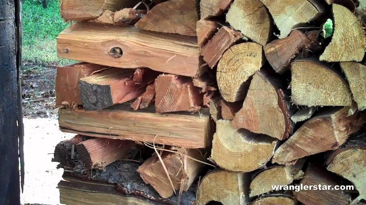 How To Stack Firewood Without Supports