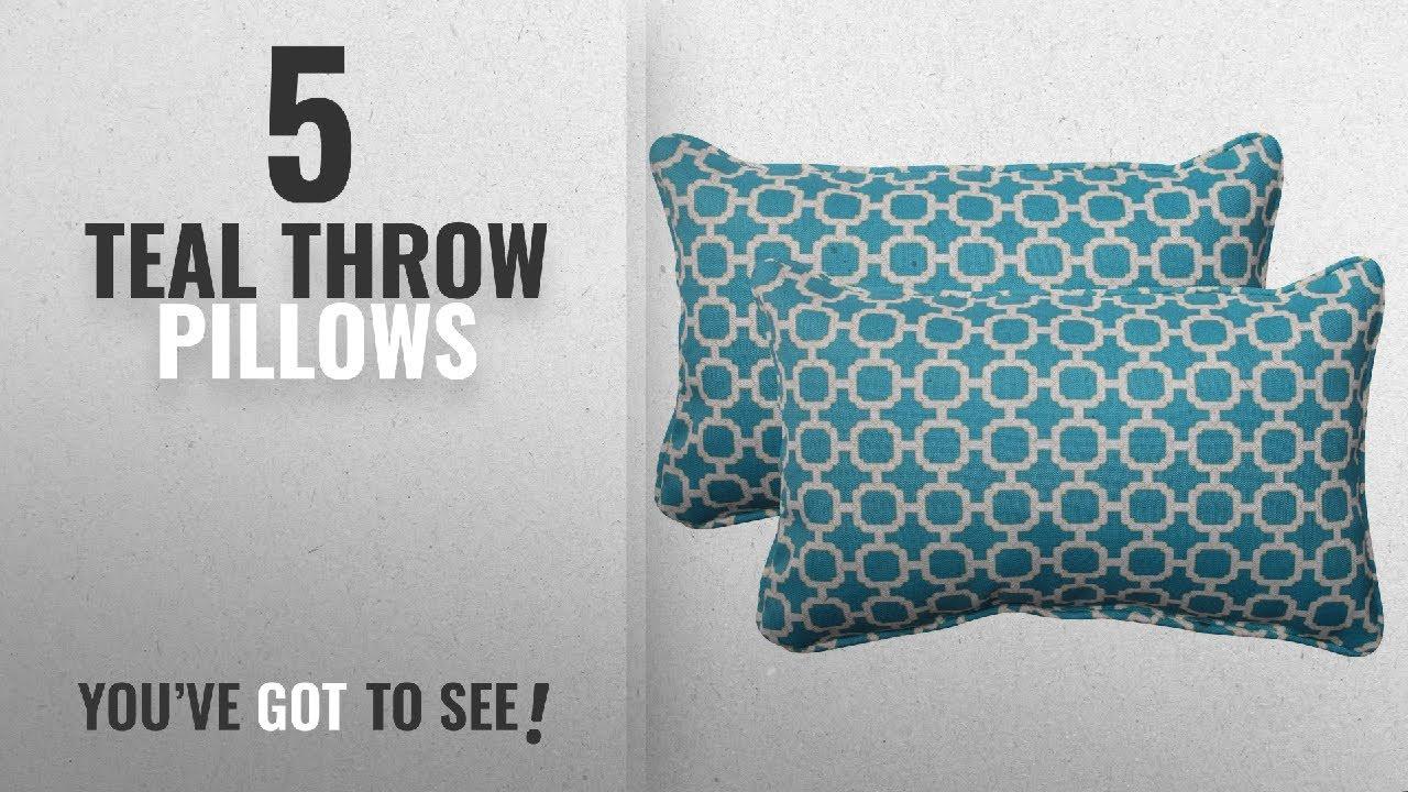 Top 10 Teal Throw Pillows 2018 Pillow Perfect Indoor Outdoor