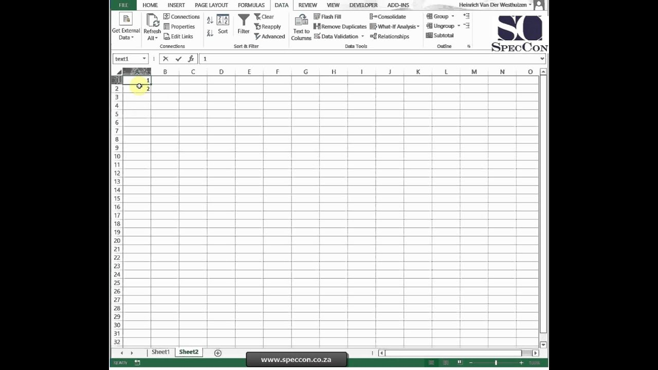 Microsoft Excel Level 2 Unit 1 1 Apply Cell And Range Names