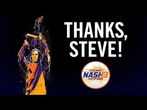 Suns to Induct Steve Nash into Ring Of Honor (10.30.2015) Game Cut version with Full Message