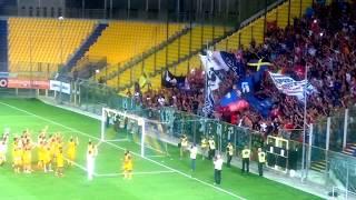 Coppa Italia, Parma-Pisa 0-1 (Finale) ~ Triplice fischio, giocatori dai tifosi