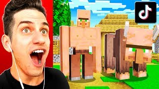 TESTING 10 *NEW* VIRAL TIKTOK MINECRAFT HACKS TO SEE IF THEY WORK!