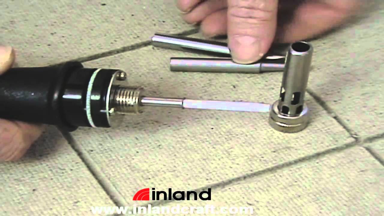changing tips on inland 39 s instaheat soldering iron youtube. Black Bedroom Furniture Sets. Home Design Ideas
