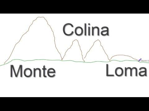 Montaña colina cerro loma Sierra y Cordillera - YouTube