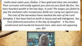 Lesson 23  James 5:1-6  December 17, 2020