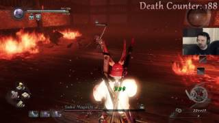 Nioh playthrough pt80 - This Is How You DON'T Fight Saika Magoichi (I SERIOUSLY Suck Here)