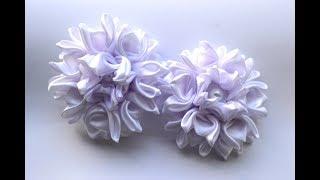 🌺Красивые цветочки из лент🌺/Satin Ribbon Flowers/D.I.Y/Tutorial
