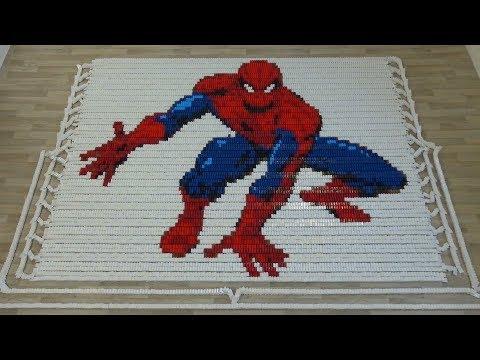 Superheroes in 58,000 dominoes