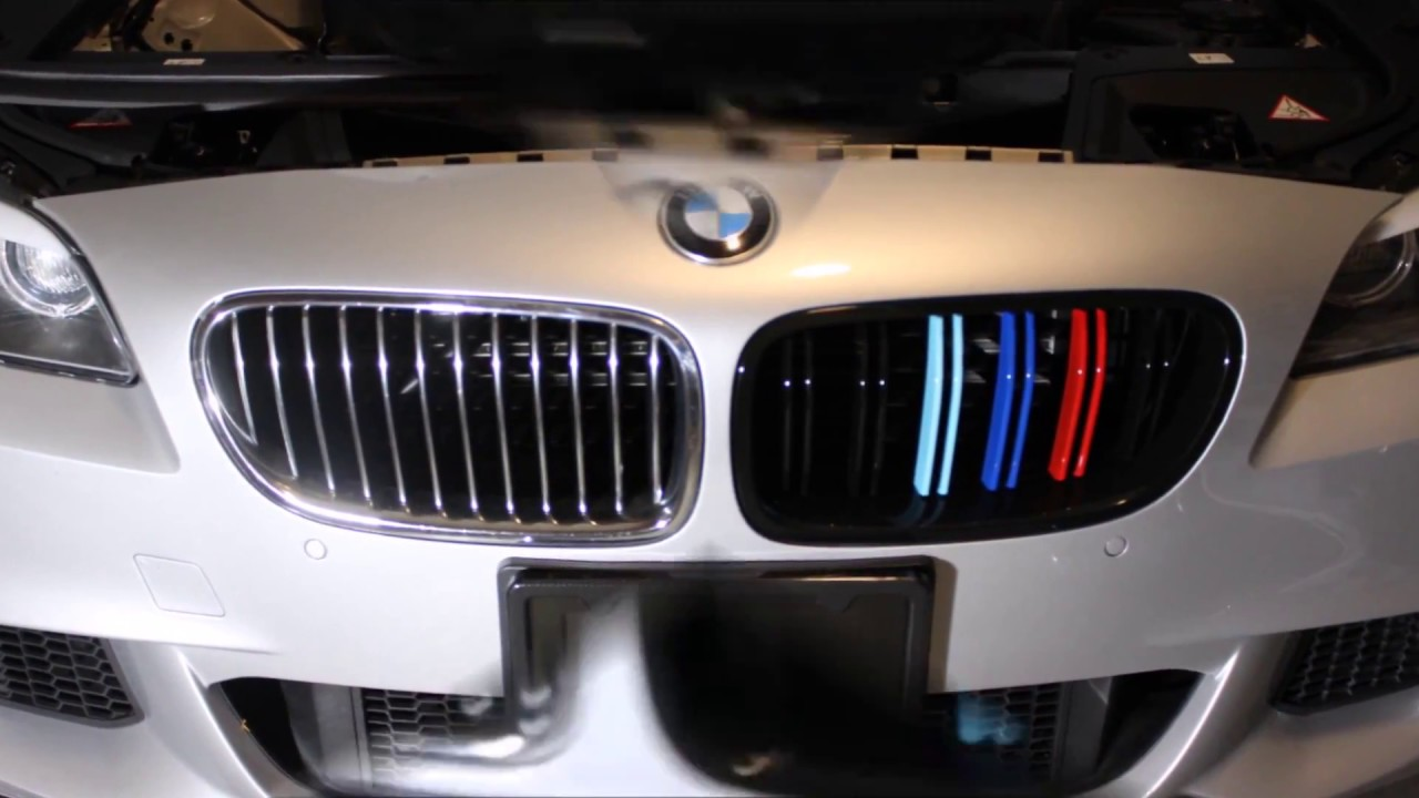how to replace front grill on bmw f10 528i 535i 550i m5 2011