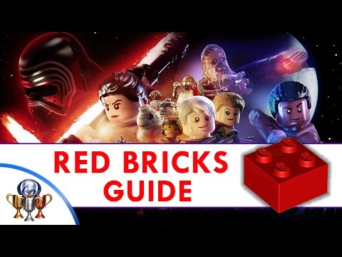 LEGO Star Wars The Force Awakens - Red Brick Locations (Red Leader) All 25 Red Bricks
