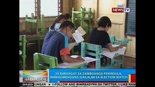 BP: 39 barangay sa Zamboanga peninsula, inirekomendang isailalim sa election watch
