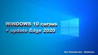 Windows 10 Basis Cursus door Eric Hasenbroekx