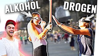 ALKOHOL vs DROGEN: Was ist SCHLIMMER? 🍺💊(Straßen-Experiment eskaliert!)