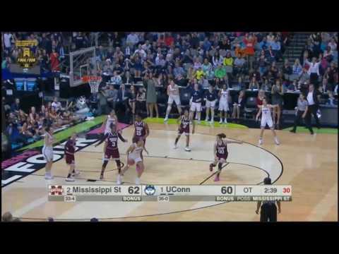 (NCAAW) Mississippi State vs UConn Overtime Highlights