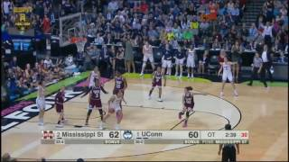 (NCAAW) Mississippi State vs UConn Overtime Highlights