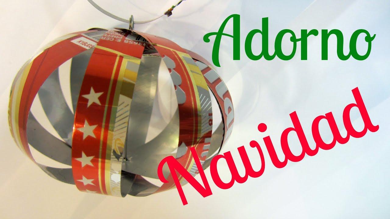 C mo hacer adornos con latas de refresco youtube for Como hacer decoraciones navidenas
