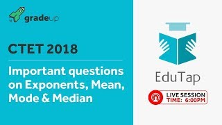 Important Questions on Exponents, Mean Mode and Median by EduTap @ 06:00 PM